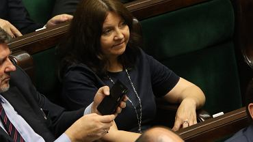 Joanna Lichocka podczas posiedzenia Sejmu