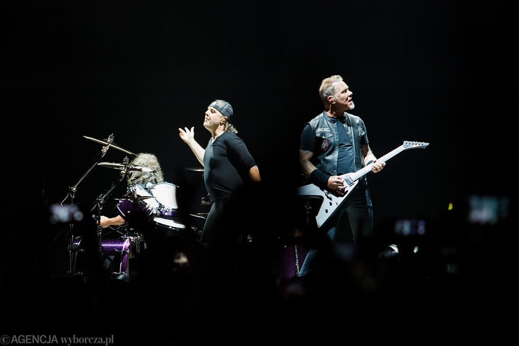 Metallica w czasie kwarantanny udostępnia swoje występy w sieci. Na zdjęciu: koncert Metalliki w Krakowie w 2018 r.