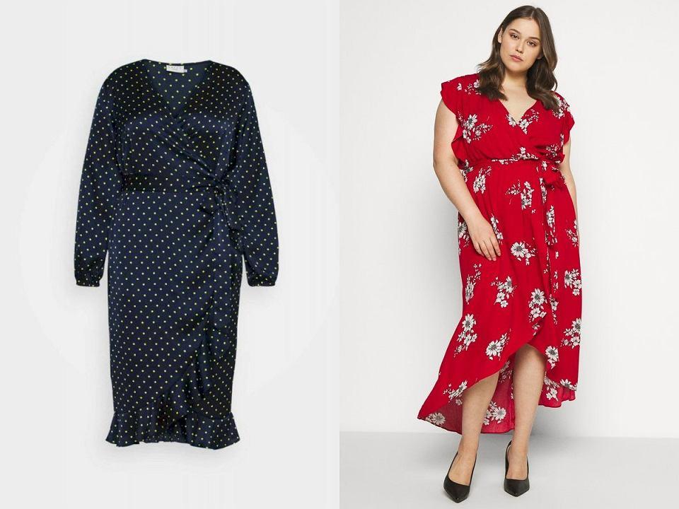Eleganckie sukienki we wzory dla puszystych