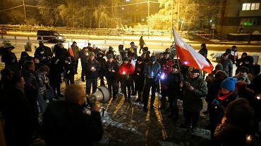 Protest przed Sądem Okręgowym w Katowicach