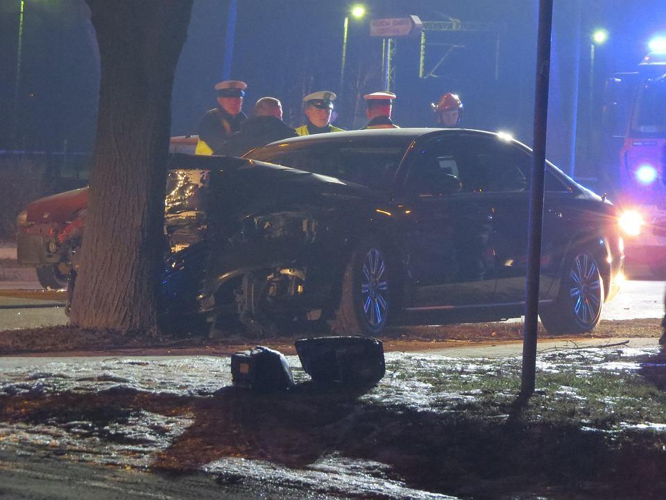 10.02.2018, Oświęcim, wypadek kolumny rządowej wiozącej ówczesną premier Beatę Szydło.
