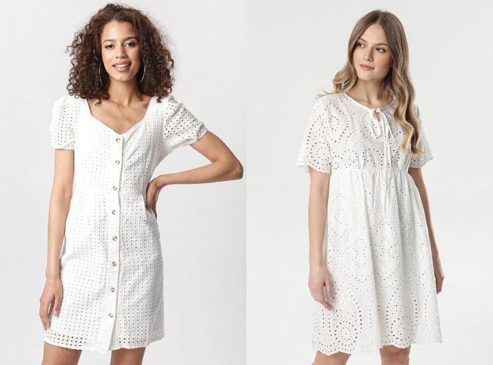Białe sukienki ażurowe