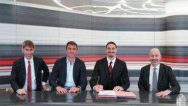 Zlatan Ibrahimović z nowym kontraktem w AC Milan. Źródło: AC Milan oficjalna strona