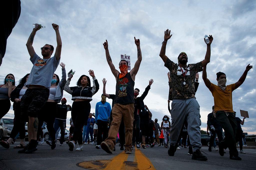 Protesty w USA po śmierci George'a Floyda.