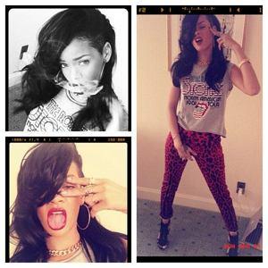 Rihanna w koszulce River Island - Rihanna/Instagram