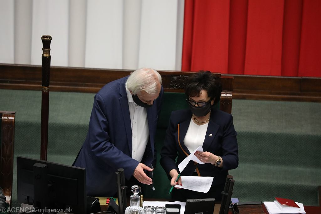Ryszard Terlecki i Elżbieta Witek
