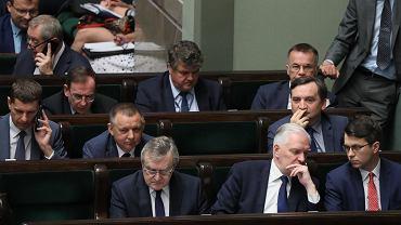Politycy Zjednoczonej Prawicy w 2019 roku - podczas 84. posiedzenia Sejmu VIII kadencji