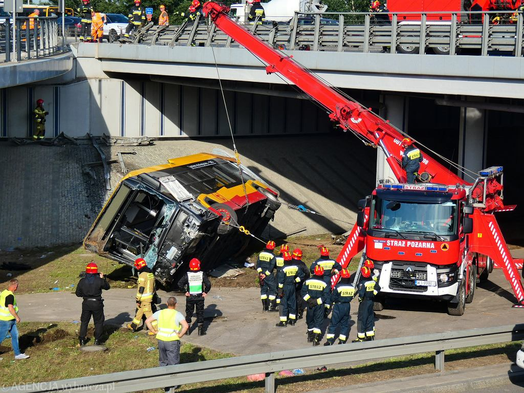 Wypadek autobusu na moście Grota-Roweckiego
