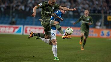 Lech Poznań - Legia Warszawa 0:2. Igor Lewczuk (Legia) i Nicki Bille Nielsen (Lech)