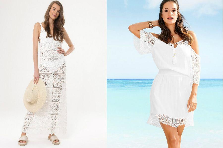 ażurowe sukienki na plażę