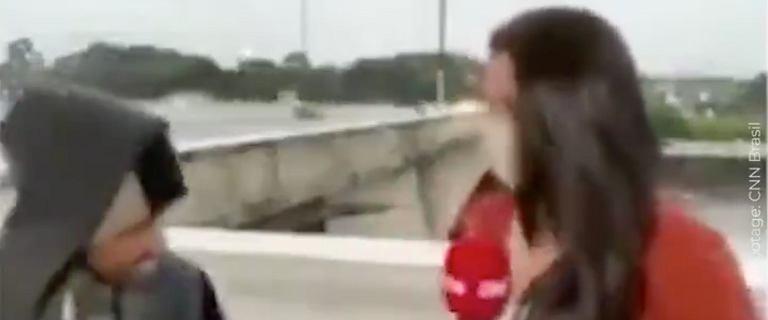 Brazylia. Reporterka CNN zaatakowana nożem podczas transmisji na żywo