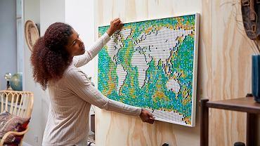 Mapa świata z klocków