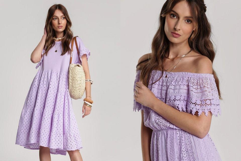 Liliowe sukienki na lato