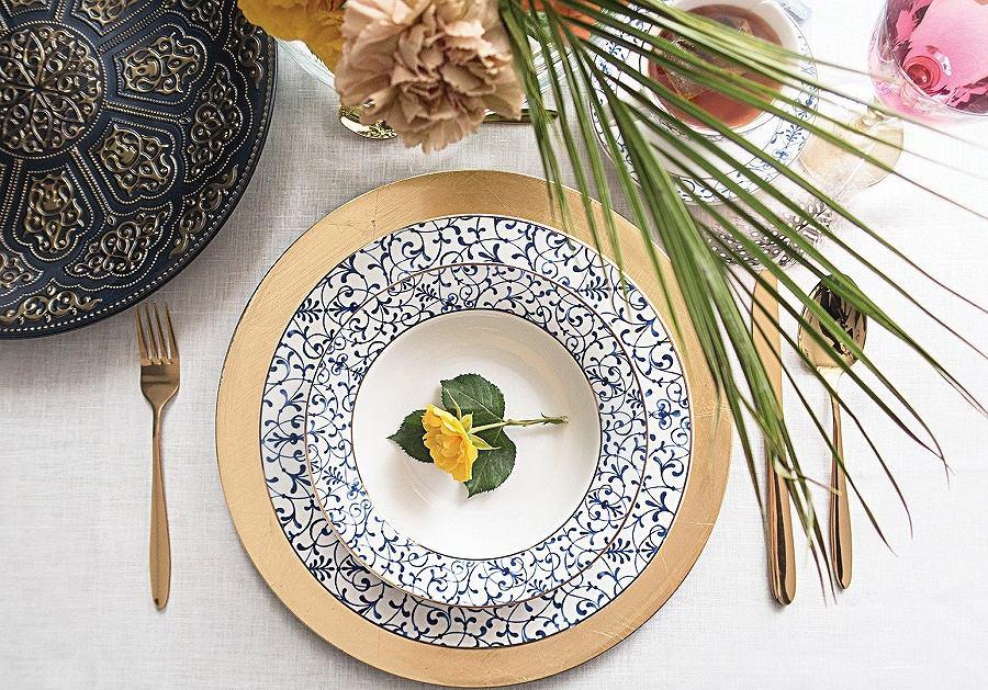 Komplet obiadowy Maison idealnie sprawdzi się podczas uroczystych kolacji.