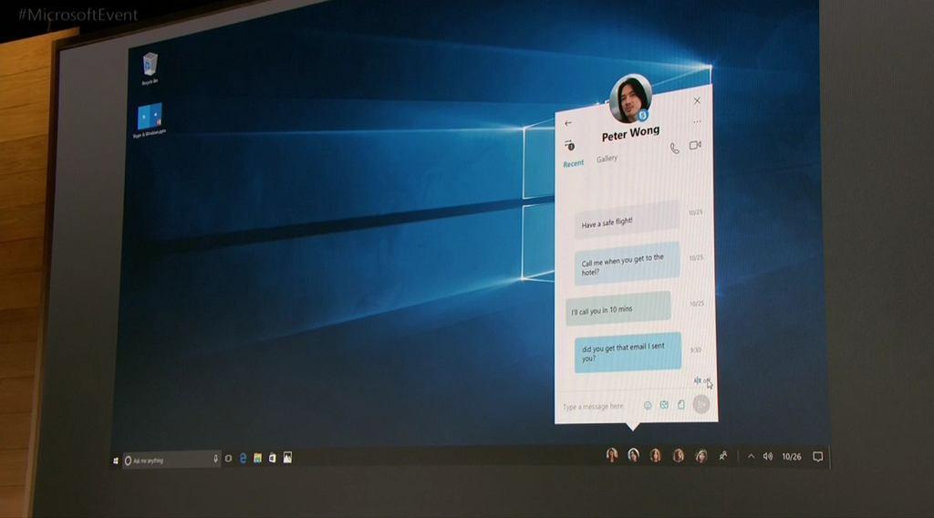 Najważniejsze osoby na pasku narzędziowym Windows 10 Creators Update