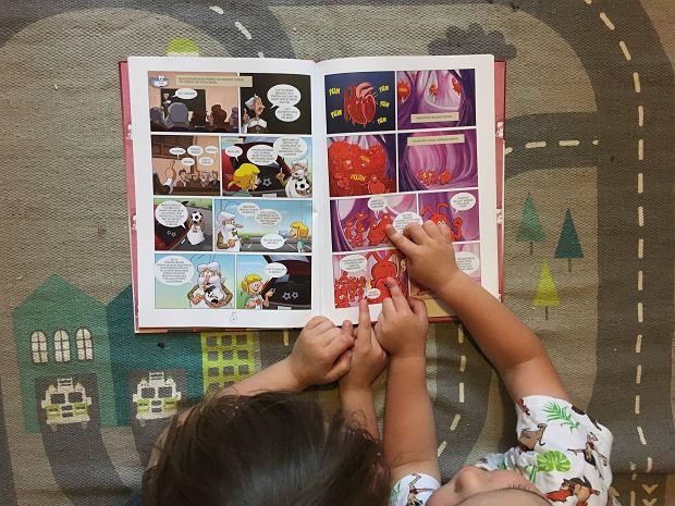 Dzieci same z chęcią sięgają po komiks, ciekawi ich to, co dzieje się w ich ciele.
