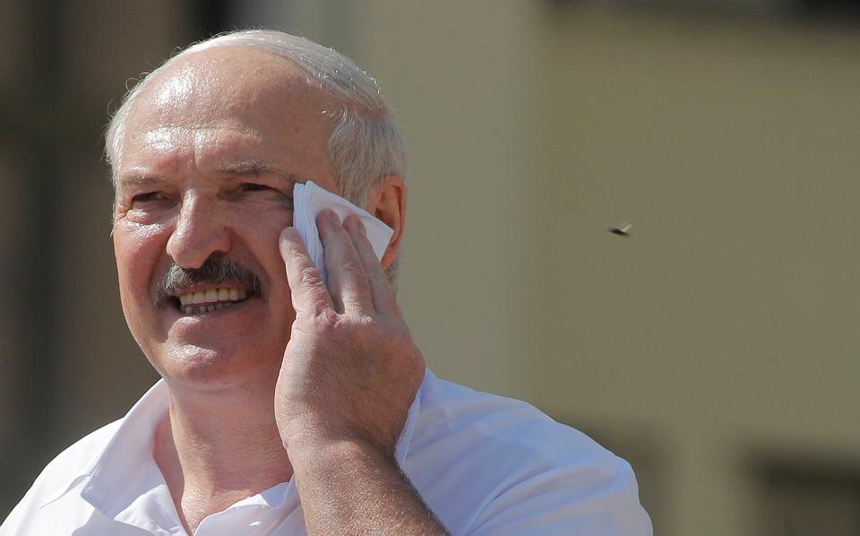 Aleksander Łukaszenka podczas przemówienia na wiecu w Mińsku, 16.08.2020