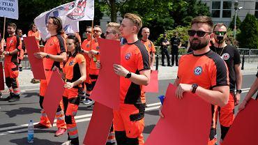 Ratownicy medyczni protestują