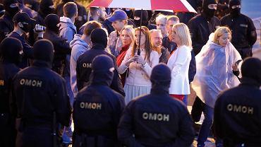 26.08.2020, OMON podczas protestów w Mińsku