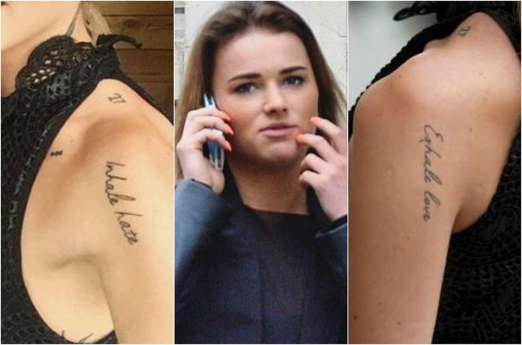 Tatuaż Maffashion - 'Inhale hate, exhale love'
