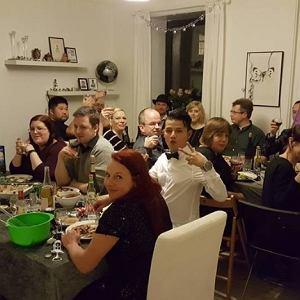 Przyjęcie noworoczne zorganizowane przez Patricka
