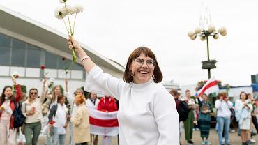 Białoruska opozycjonistka Olga Kowalkowa