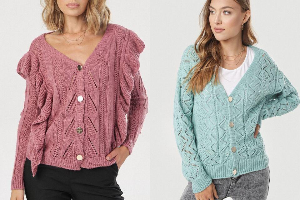 Swetry ażurowe rozpinane