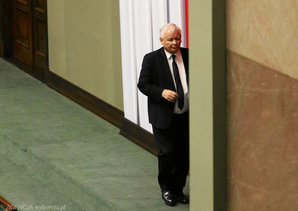 Jarosław Kaczyński w Sejmie (fot. Sławomir Kamiński/AG)