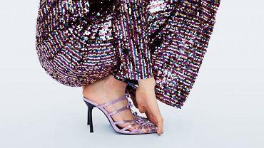 Fioletowe sandały Zara