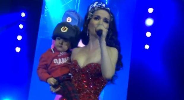 Natalia Oreiro z synkiem Merlinem