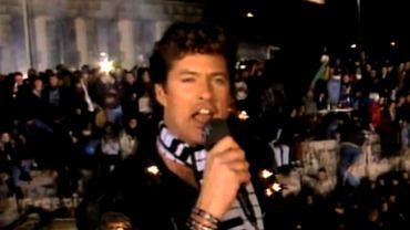 David Hasselhoff podczas występu w Berlinie w 1989 r.