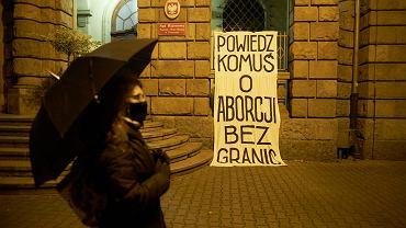 Manifestacja przeciwko zaostrzeniu przepisów aborcyjnych w Poznaniu