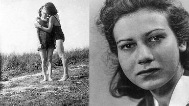 Felice Schragenheim i Elisabeth Wust - sierpień 1944 roku (z lewej) i Felice Schragenheim w 1941 roku