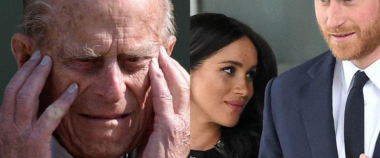 """Książę Filip odwrócił się od księcia Harry'ego. Był """"przerażony i zdenerwowany"""""""