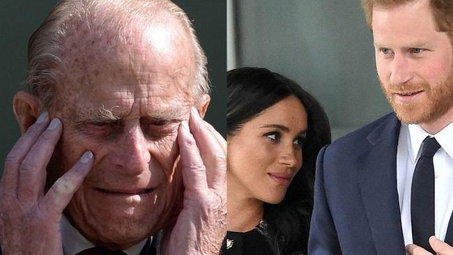 """Książę Filip odwrócił się od księcia Harry'ego. Był """"przerażony i zdenerwowany"""", gdy wnuk i Meghan Markle ogłosili megxit"""