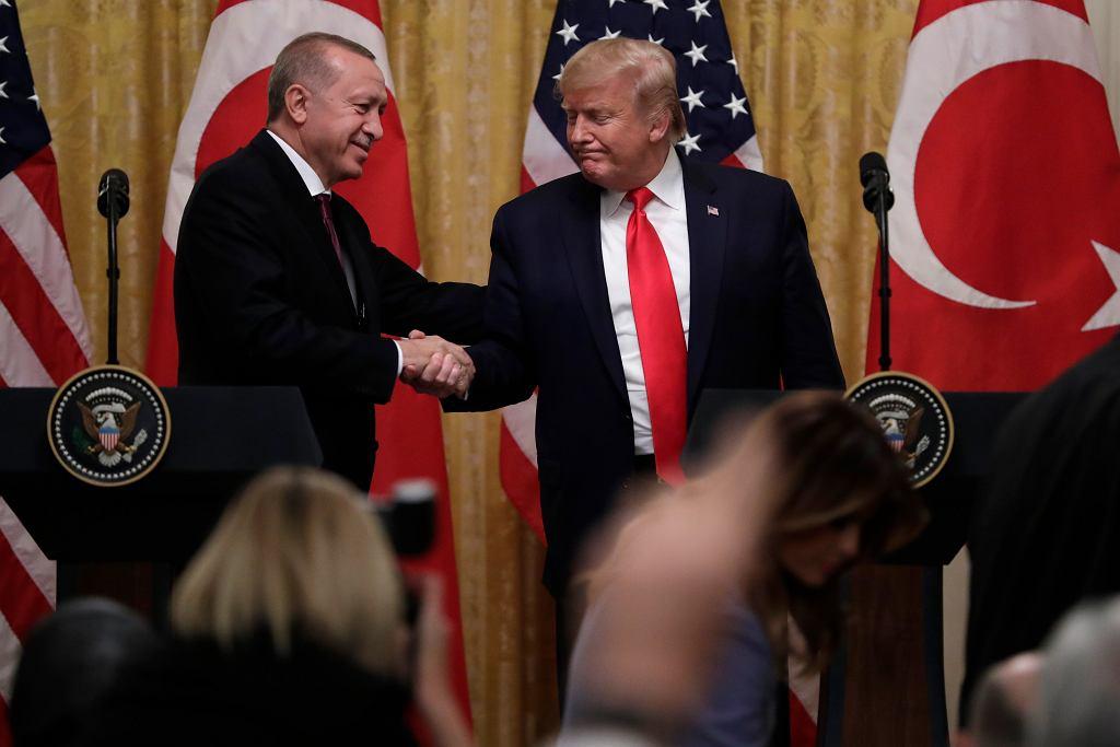 Spotkanie prezydenta USA Donalda Trumpa z prezydentem Turcji Recepem Erdoganem