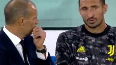 Giorgio Chiellini i trener Massimiliano Allegri podczas meczu Juventus - Empoli