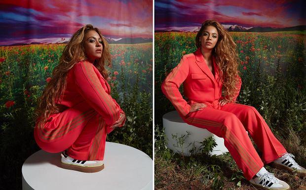 Beyonce w garniturze z autorskiej kolekcji IVY PARK x Adidas