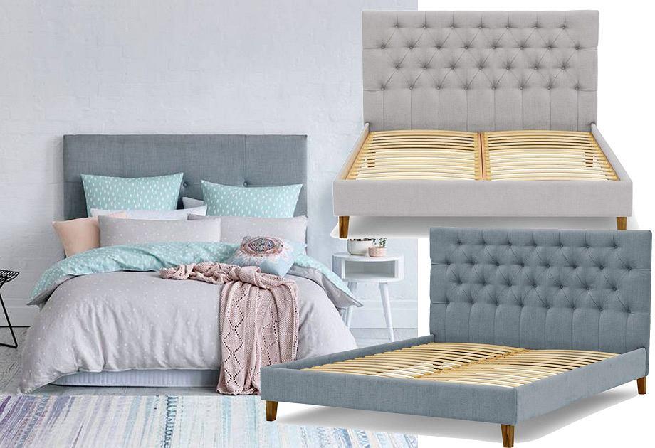 Łóżko pikowane w stylu skandynawskim