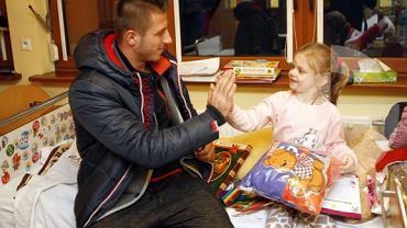 Wojciech Łuczak z wizytą w szpitalu
