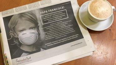 """Ogłoszenie w """"La Repubblica"""""""