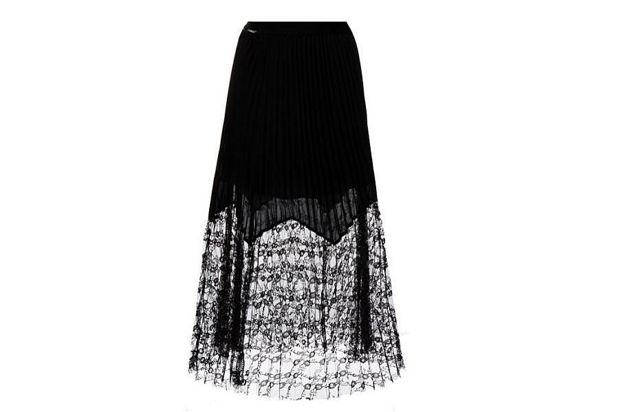Plisowana spódnica maxi od marki Guess