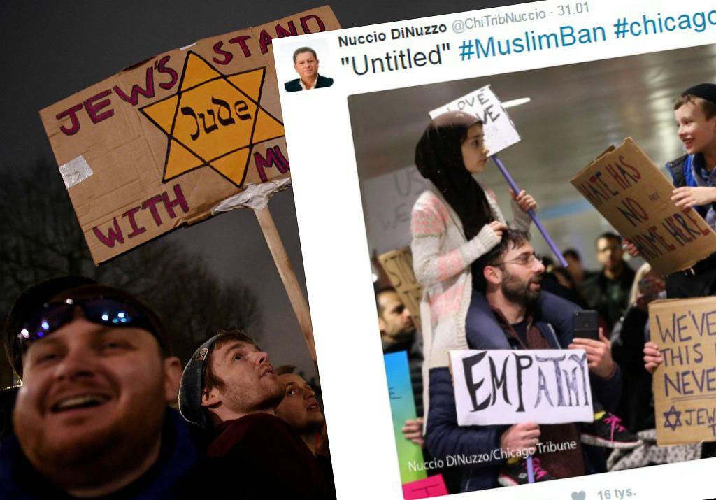 Protesty przeciwko polityce imigracyjnej Donalda Trumpa