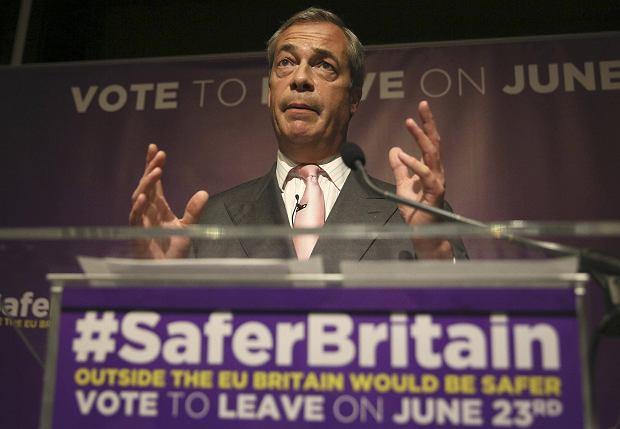 Nigel Farage zwolennik Brexitu
