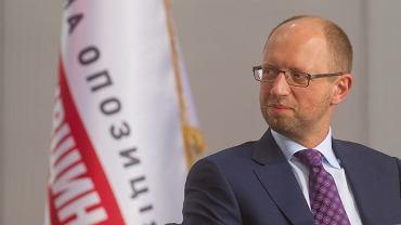 Arsenij Jaceniuk na Zjeździe Zjednoczonej Opozycji Partii Batkiwszczyna - czerwiec 2013