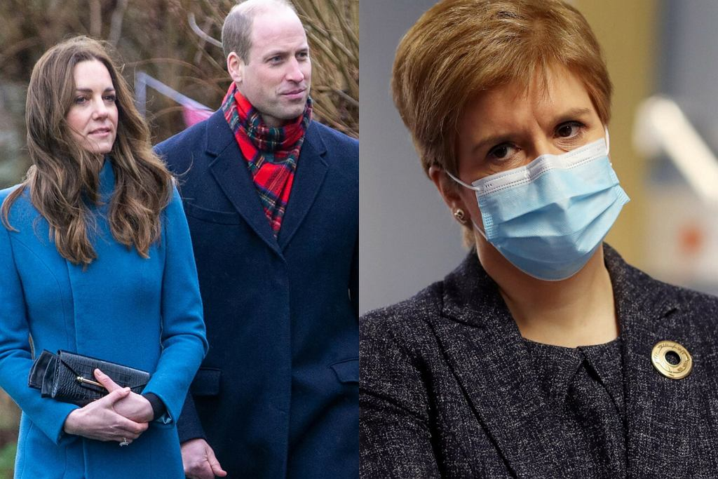 Księżna Kate, książę William, Nicola Sturgeon