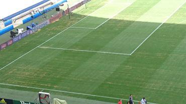 Murawa na stadionie w Marsylii