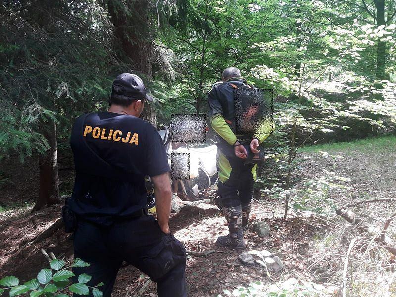 Niemiecki motocyklista zatrzymany na terenie KPN