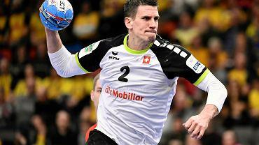 Goteborg, 12 stycznia 2020. Mistrzostwa Europy w piłce ręcznej. Mecz Polska - Szwajcaria (24:31). Andy Schmid