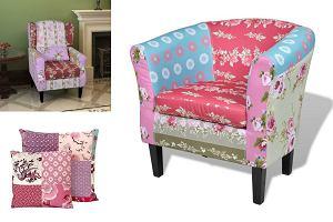 TREND: patchwork we wnętrzach: meble i tekstylia